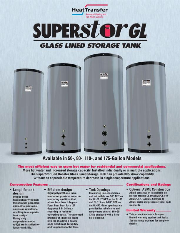 HTP / Commercial / SuperStor Glass Lined Storage Tank - JTG/Muir